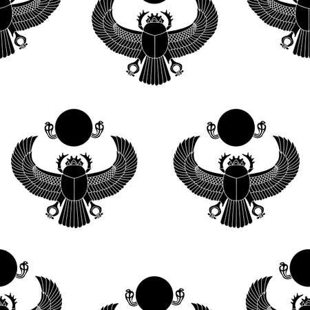 scarab: Scarab silhouette Illustration