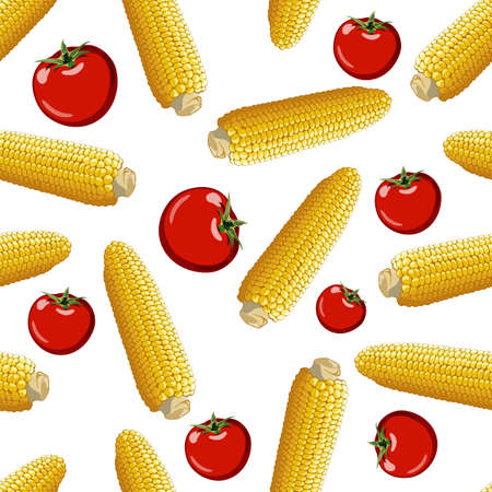 corn vector seamless pattern Vector