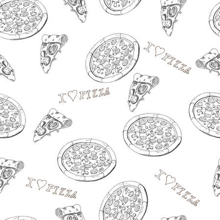 Pizza seamless Vector