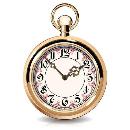 金ヴィンテージ腕時計します。  イラスト・ベクター素材