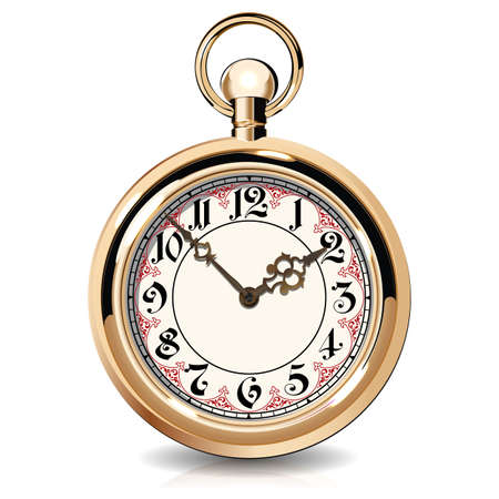 Gold Vintage-Uhren Standard-Bild - 32884559