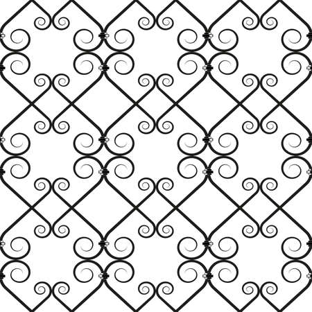 iron: wrought iron pattern