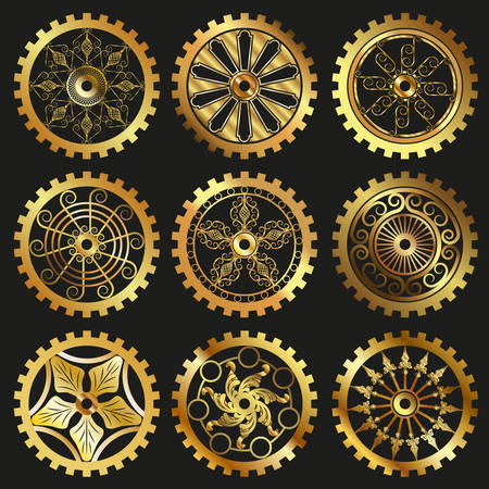 cogs and gears: the gears Illustration