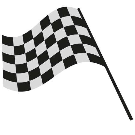 checkered flag racing Vettoriali
