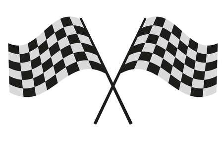 checkered flag: checkered flag racing Illustration