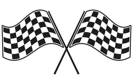 체크 무늬 깃발 경주