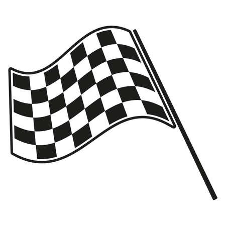 checkered flag racing Illustration