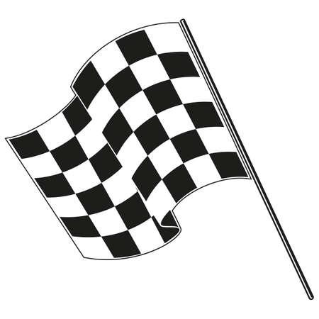 checkered flag racing Ilustração