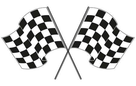 checkered flag racing  イラスト・ベクター素材
