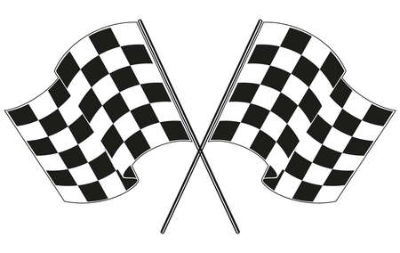 sports race: checkered flag racing Illustration