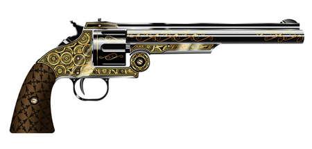 revolver  イラスト・ベクター素材