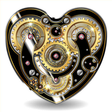 steam iron: steampunk mechanical heart