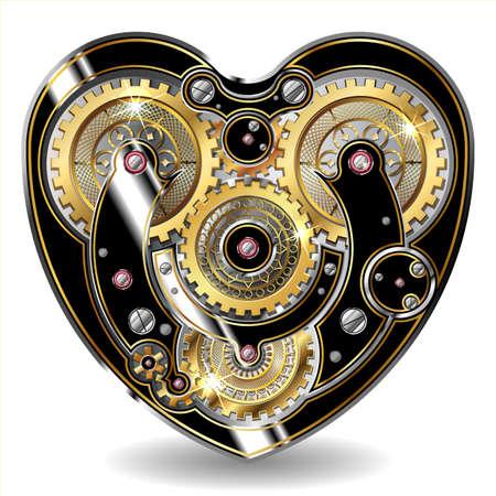 Steampunk mechanisches Herz Standard-Bild - 33252034