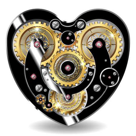 clocks: steampunk mechanical heart