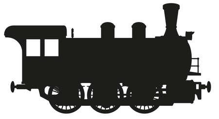 steam locomotive  イラスト・ベクター素材