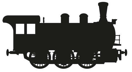 loco: steam locomotive Illustration