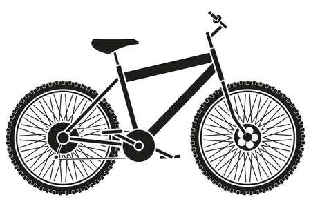 bike silhouette Illustration