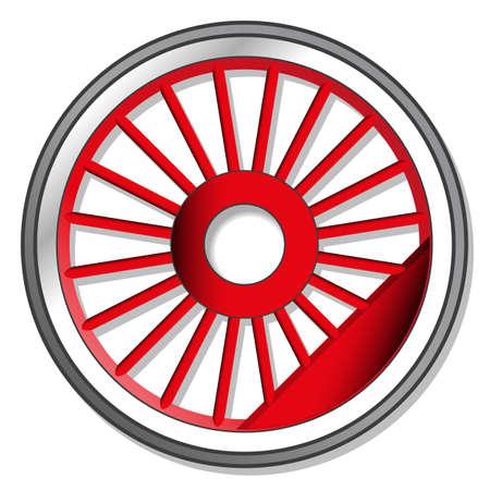 steam machine: rueda de la locomotora de vapor