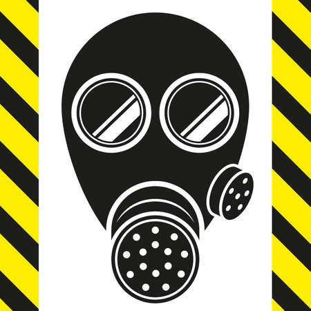 gas mask warning sign: gas mask