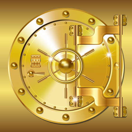 safe money: Gold Bank doors