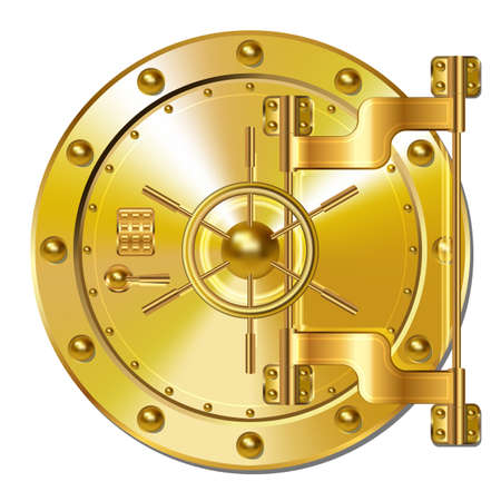 safe investments: Gold Bank doors