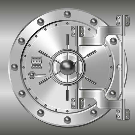 銀行の金庫室の扉