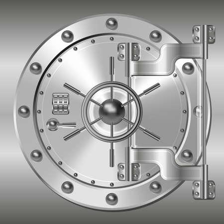 caja fuerte: Banco b�veda puerta