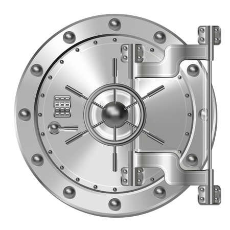 safe with money: Bank vault door
