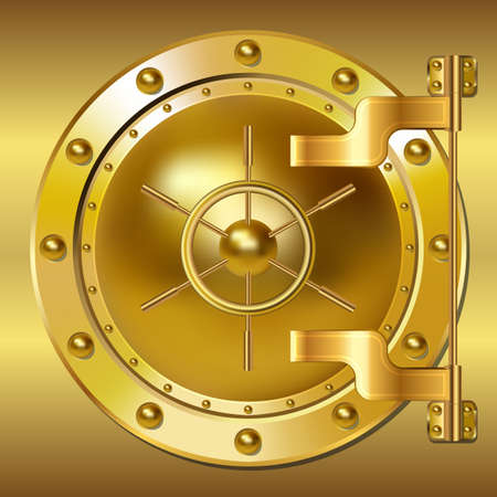 Gold Bank vault door