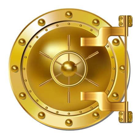 Gold Bank vault door