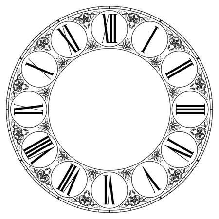 Orologio vettoriale su bianco. Illustrazione clip art Archivio Fotografico - 37576751