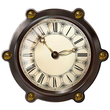 MAQUINA DE VAPOR: Reloj antiguo en el estilo del steampunk