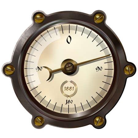 スチーム パンクのスタイルで古代の測定装置  イラスト・ベクター素材