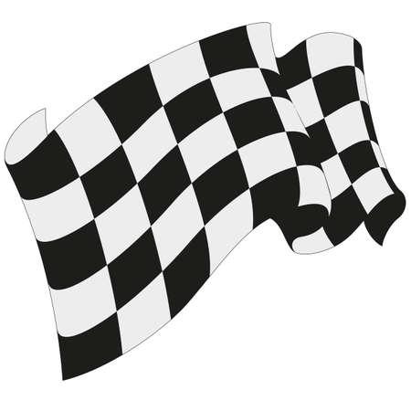 Bandiera a scacchi da corsa Archivio Fotografico - 37842063