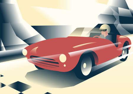cabrio: Red sport car