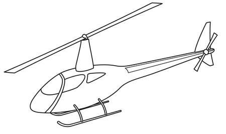 Helic�ptero silueta Vectores