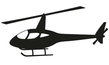 helicopter: Helicopter silhouette Illustration