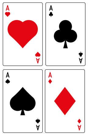 Vector conjunto de juegos de la tarjeta de juego aislado en el fondo blanco