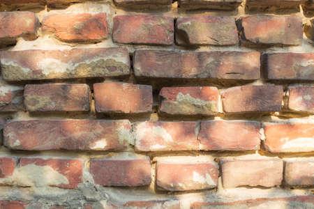 mal estado vieja pared de ladrillos