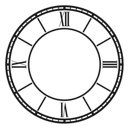 vintage clock: vintage clock on white . Illustration clip art