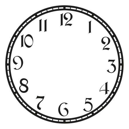 reloj de la vendimia en blanco. Arte de la ilustración del clip