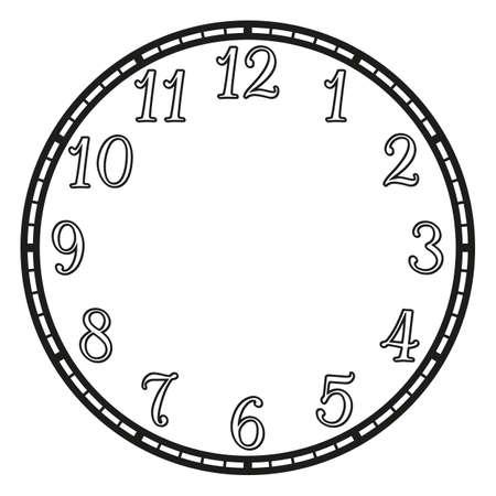 vintage clock:  vintage clock on white . Illustration clip art Illustration