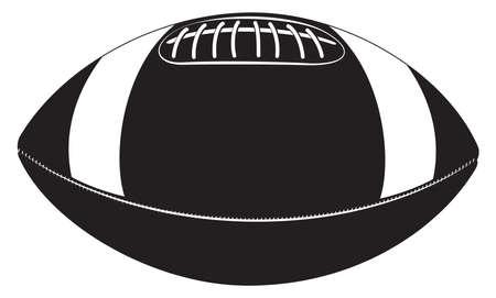 Silueta de la bola de rugbi