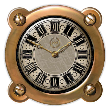 bypass: Ancient clock in the style of steampunk