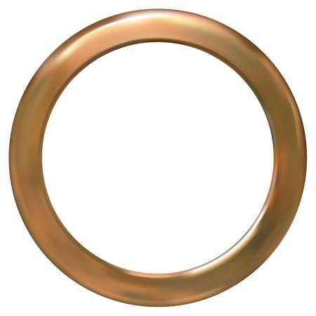 gold ring: Frame gold ring vector illustration. Gradient mesh Illustration