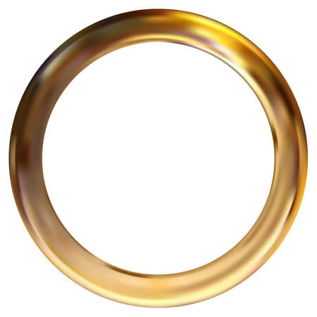 Frame gold ring vector illustration. Gradient mesh 向量圖像