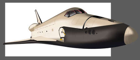 space shuttle: Space Shuttle flying in space. Vector. Elements of this image furnished by NASA