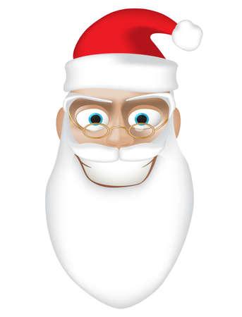 gradient mesh: Smiling Santa.Isolated on white background. Gradient mesh Illustration