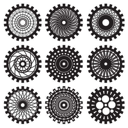 steampunk: Vector gears set in the style of steampunk