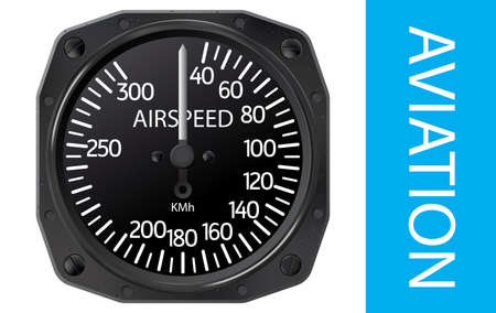 analogical: Analogical aircraft airspeed indicator. Gradient mesh